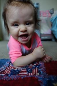 E. is still living up to her nickname, Little Beast.