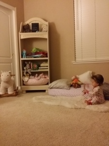 E's new room and her new Montessori bed.