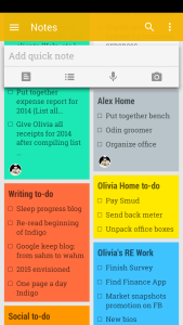 Here is a screenshot of Google Keep on my phone, such a great way to consolidate all those to-do lists.